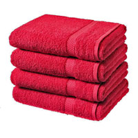Luxury Cotton Bath Sheet Red