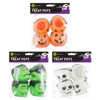 Halloween Treat Pots 4 Pack