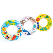 "24"" Fun Design Transparent Printed Inflatable Ring"