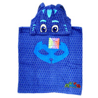 Official PJ Masks Towel Cotton Poncho Blue