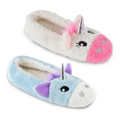 Ladies Unicorn Soft Fleece Ballet Slippers