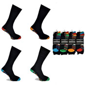 Mens Authentic Computer Socks Footbed Stripes