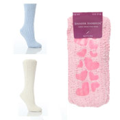 Ladies Soft Cosy Socks with Gripper