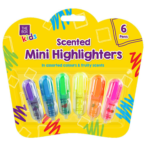 Scented Mini Highlighters 6 Pack