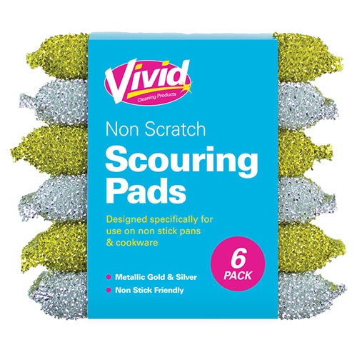 Non Scratching Scouring Pads 6 Pack