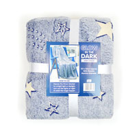 Starry Night Print Glow In The Dark Blanket Throw