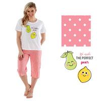 Ladies Perfect Pear Crop Pyjamas