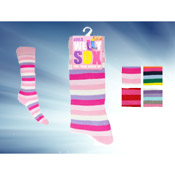 Girls Stripe Welly Socks