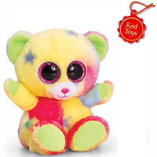 Animotsu Rainbow Bear Cuddly Soft Toy