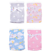 Baby Super Soft Stars/Clouds Fleece Baby Blanket