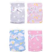 Baby Super Soft Stars/Clouds Fleece Baby Blanket