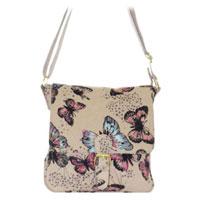 Butterfly Canvas Crossbody Bag