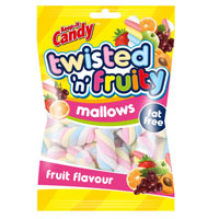 Fruity Mini Twisted Marshmallow Sweets 250g Bag