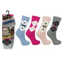 Ladies ProHike Design Wool Blend Sock Argyle