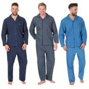 Mens CargoBay Woven Pyjamas Set Blue