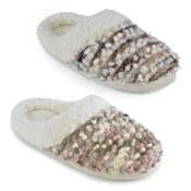 Ladies Soft Fleece Slippers Novelty Fluff