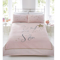 Wish Upon A Star Pink Duvet Set