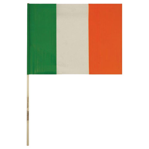 St Patrick's Day Ireland Hand Flag
