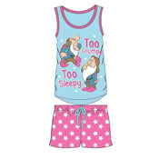 Ladies Snow White Dwarfs Shortie Pyjama Set