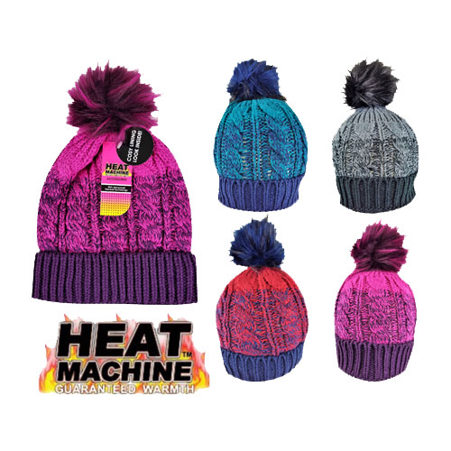 Ladies Self Coloured Twisted Yarn Hat Cosy Lining Carton Price