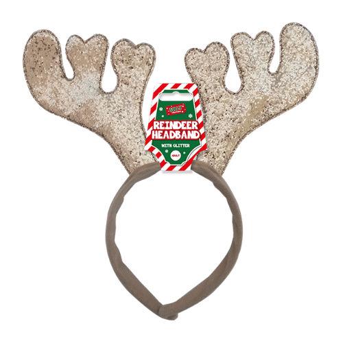 Christmas Glitter Reindeer Headband