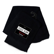 Mens Fleece Scarf Black