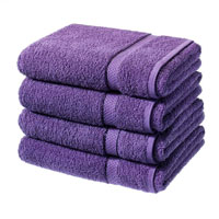 Luxury Cotton Bath Sheet Aubergine