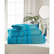 Egyptian Cotton Hand Towel Turquoise Stripe