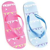 Girls Bird Print Flip Flops