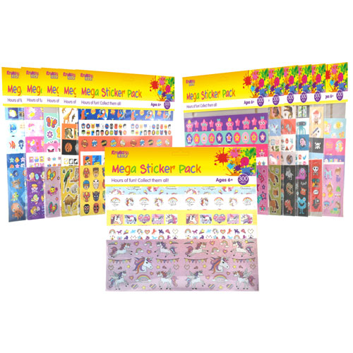 Mega 300 Piece Sticker Pack