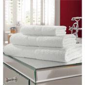 Egyptian Cotton Bath Towel White Plain