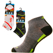 Mens Dark ProHike Trainer Socks