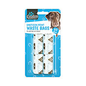 Emoticon Dog Poo Bags 60 Pack