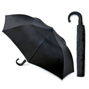 Mens Auto Deluxe Folding Umbrella Black