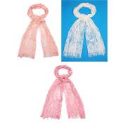 Ladies Scarves Lace Flower Print