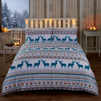 Christmas Duvet Set Oslo Teal