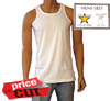 Mens Interlock White Vests 5 star