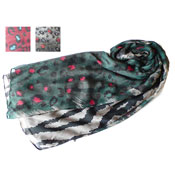 Leapord Fashion Scarf Assorted Designs