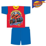 Blaze Champion Boys Shortie Pyjamas Set