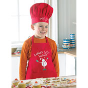Cooksmart Kids 'Santa's Little Helper' Apron and Chef Hat Set