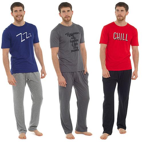 Mens Fun Print Jersey Pyjama Set
