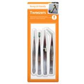 Tweezers 4 Pack
