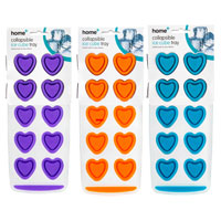 Collapsible Ice Cube Tray Hearts