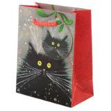 Christmas Festive Cats Gift Bag Small
