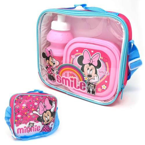 Official Minnie Mouse Smile Lunch Bag Set 3 Piece