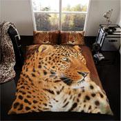3D Leopard Duvet Set