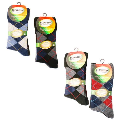 Flexi-Top Non Elastic Diabetic Socks Argyle