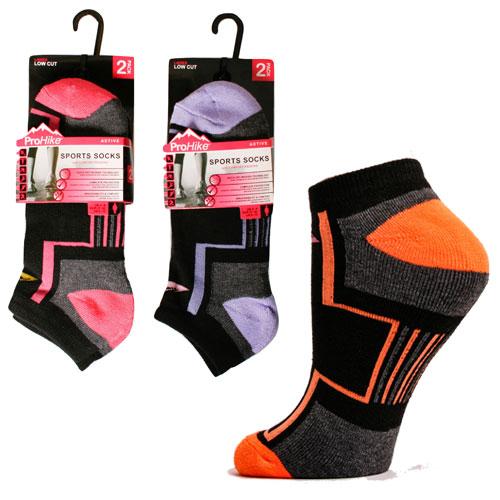 Ladies Pro Hike Low Cut Cushion Trainer Socks