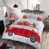 Santa Campervan Christmas Duvet Set