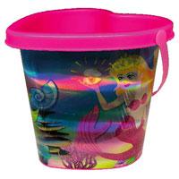Mermaid Heart Holographic Bucket